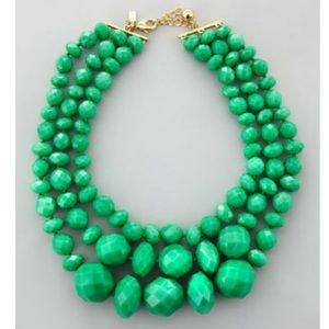 Kate spade 3 strand necklace turquoise green